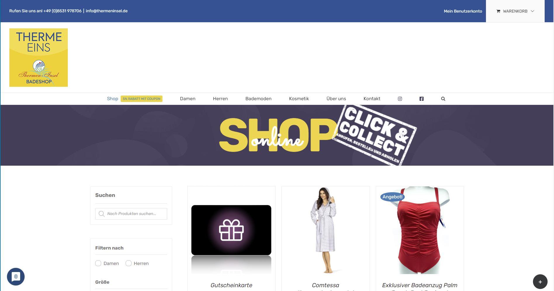 Online Shop Thermeninsel Bad Füssing